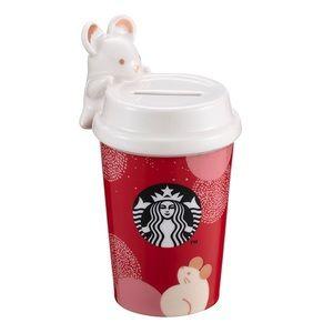 Brand New Starbucks Zodiac Rat CNY Coin Bank